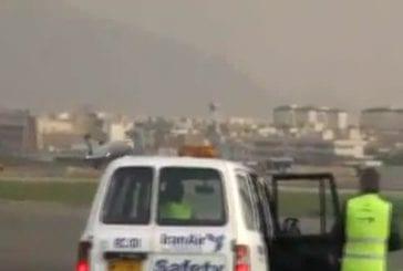 Atterrissage d'un avion sans la roue avant