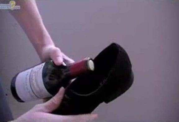 Comment ouvrir une bouteille de vin avec une chaussure