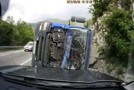 Face a face avec un camion