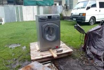 Harlem shake avec une machine à laver