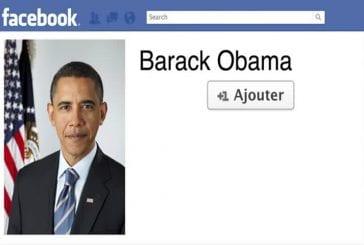 Hollande et Sarkozy sur Facebook