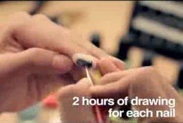 Kia publicité première animation sur ongles au monde