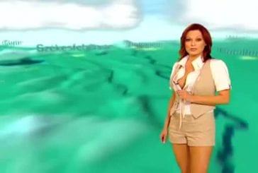 Une madame météo sexy en Hongrie