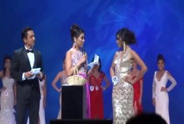 Réponse d'une miss lors du concours de Miss Philippines 2013 aux Etats-Unis