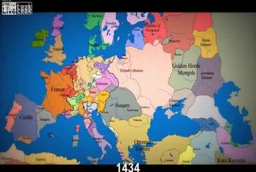 Evolution de l'Europe depuis le 11e siècle