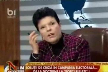 Arrosage durant un débat politique roumain