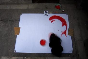 Peindre avec un ballon de basket