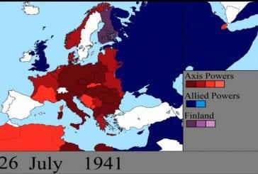 2e guerre mondiale jour par jour sur une carte
