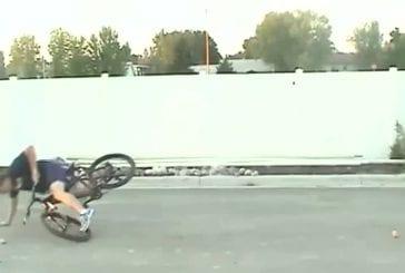 Accident de vélo en tentant un stunt