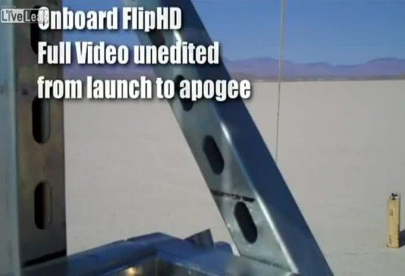Fusée artisanale atteint 121 000 pieds en moins de 120 secondes