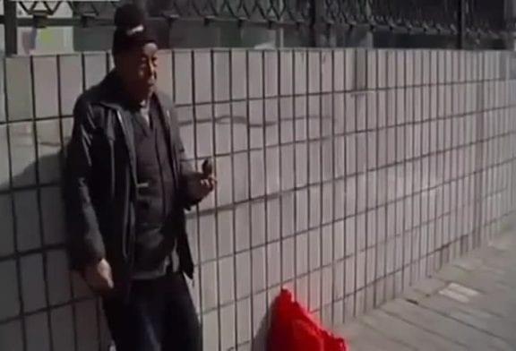 Oiseau apporte des pièces à un homme sans-abri