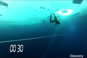 Nager sous la glace - nouveau record du monde