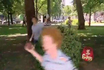 Blague du policier gonflé à l'eau