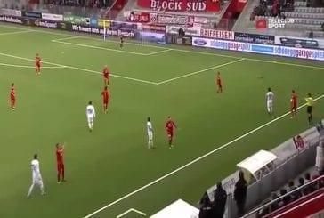 Une martre envahit un match de football suisse