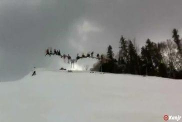 Ski backflip 30 personnes