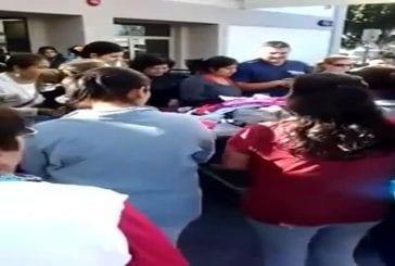 Combat de femmes durant les soldes