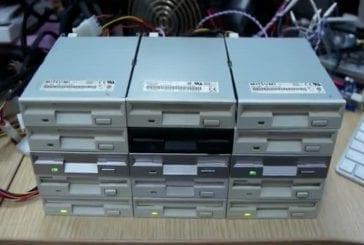 Super Mario Bros avec des disquettes