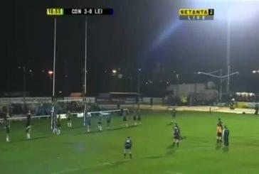 Penalty boomerang durant un match de rugby