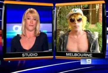 Homme insolite dans les rues de Melbourne