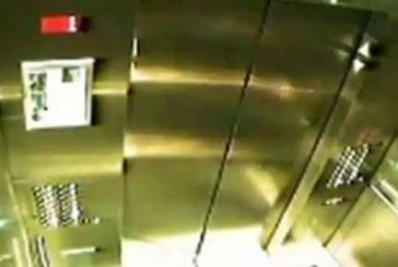 Laisse de chien coincée dans l'ascenseur