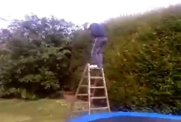 Echelle et trampoline FAIL