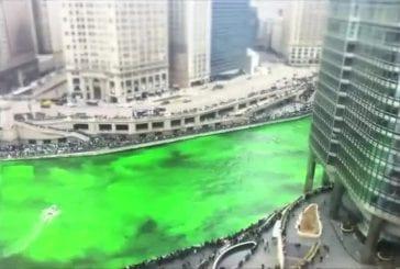 Teindre en vert la rivière de Chicago