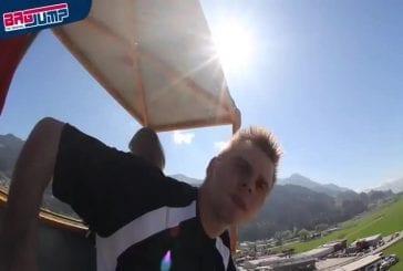 Chute libre de 60 mètres avec atterrissage sur un gros tapis d'air