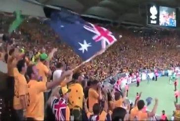 Les supporters australiens de football chantent
