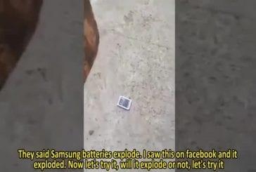 Fou samsung explosion de la batterie
