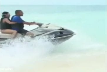 Accident frontal de 2 Jet-Ski
