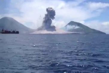 L'éruption du mont Tavurvur