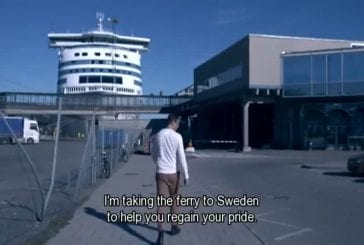 Vrai homme finlandais va en Suède