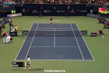 Federer a du plaisir avec les fans