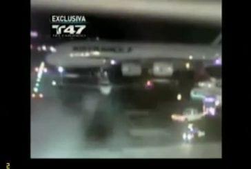 Air France clips avion à l'aéroport JFK