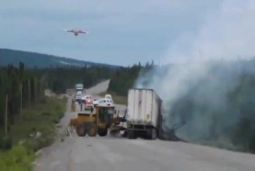 Comment éteindre un incendie de camion par air