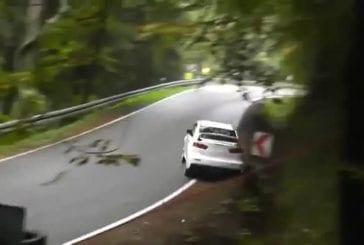 Terrible accident avec tonneaux durant un rallye