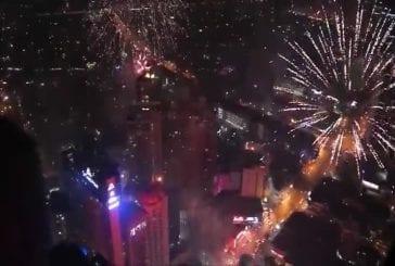 Feux d'artifice sur Metro Manila Nye 2014