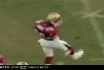 Ce joueur a une drôle de façon de marquer un point au football américain