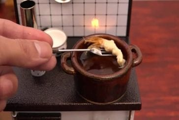Mini-crevettes tempura alimentaire et crevettes frites