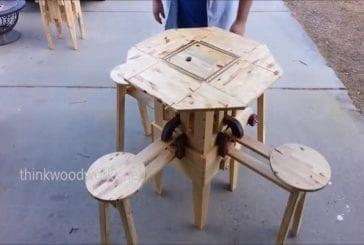 Incroyable table pliante de voyage
