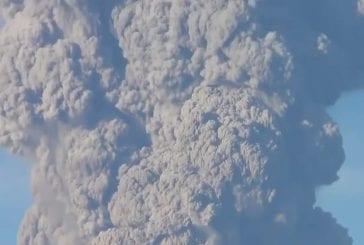L'éruption du volcan